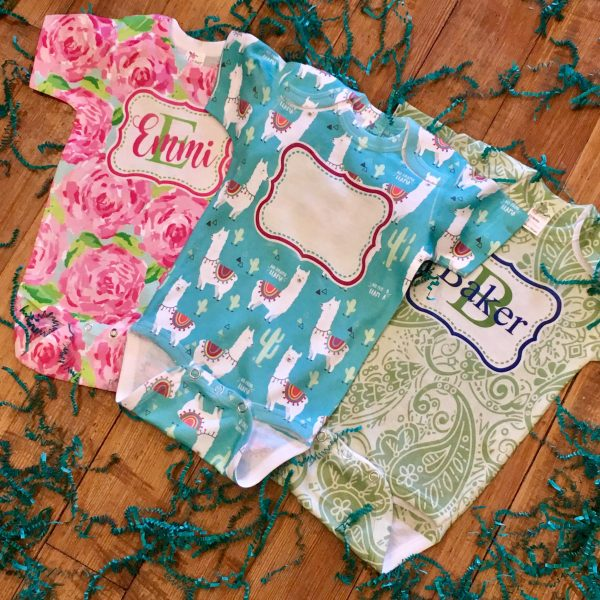 RS Patterned Name Onesie