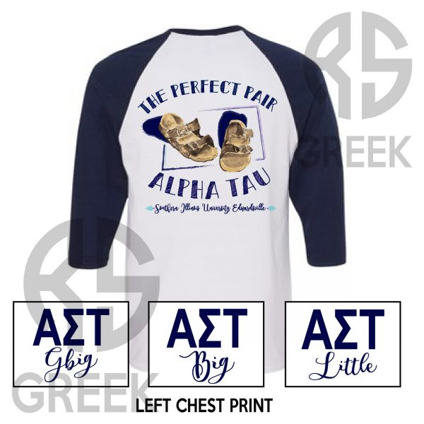 RS Greek AST Perfect Pair Big Little Raglan