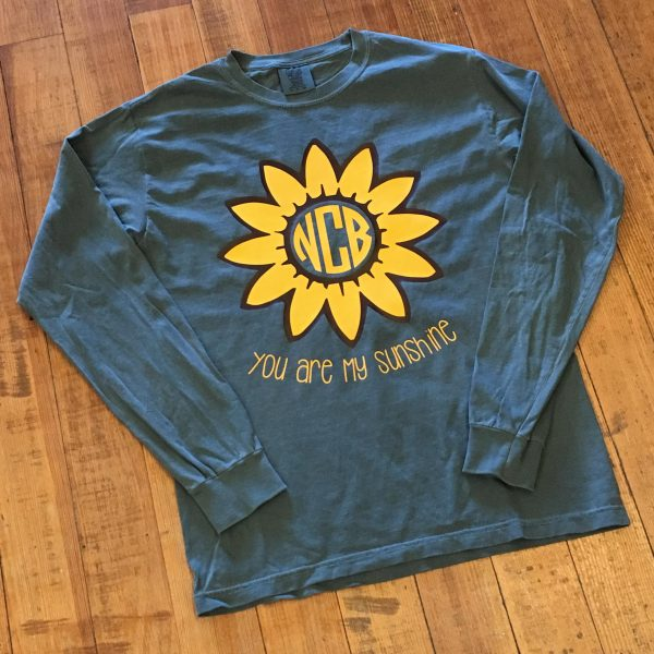 RS You Are My Sunshine Monogram Tee